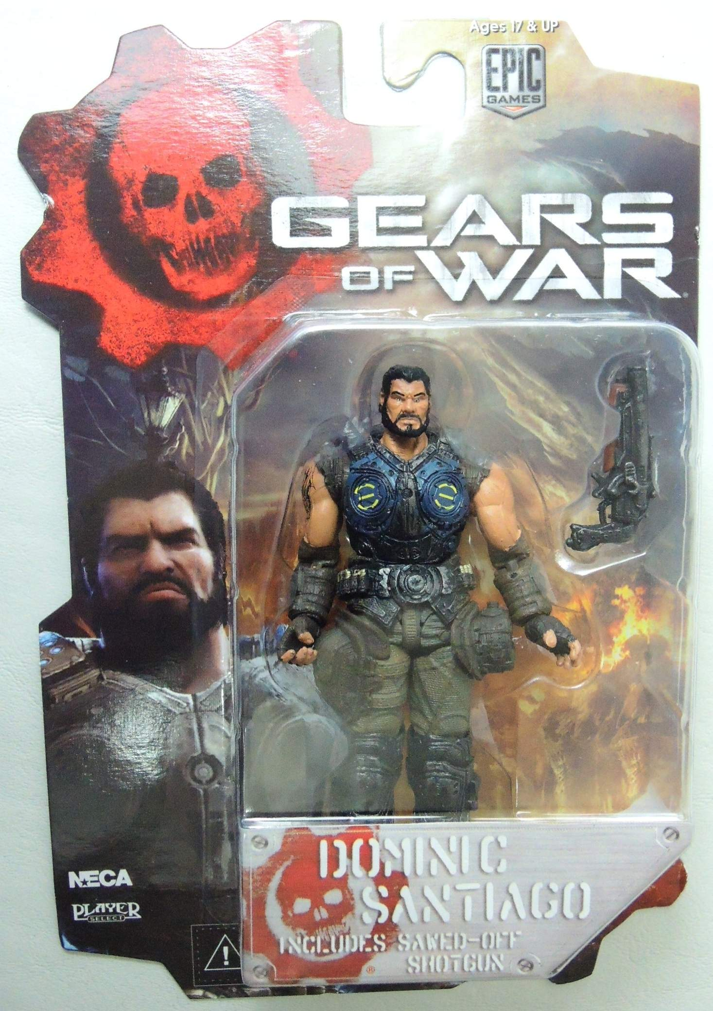NECA Gears of War 3.75 inch Series 2 Figure - Dominic Santiago NECA, Gears of War, Action Figures, 2013, scifi, video game