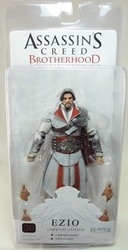 NECA Assassins Creed Brotherhood Figure - Ezio Legendary Assassin (unhooded & ivory)