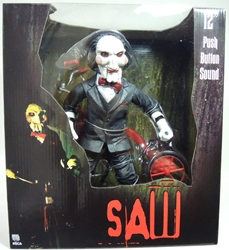 NECA Saw 12 inch Deluxe Figure - Billy on Tricycle with sound NECA, SAW, Action Figures, 2013, horror, halloween, movie