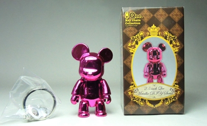 Toy2R 2.5 inch Qee Metallic Series - BearBearQ (metallic pink) Toy2R, Qee, Action Figures, 2009, collectible