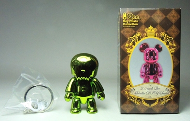 Toy2R 2.5 inch Qee Metallic Series - ToyerQ (metallic green) Toy2R, Qee, Action Figures, 2009, collectible