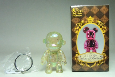 Toy2R 2.5 inch Qee Metallic Series - MonQ chase (clear w glitter)