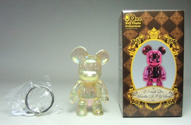 Toy2R 2.5 inch Qee Metallic Series - BearBearQ chase (clear w glitter)