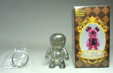 Toy2R 2.5 inch Qee Metallic Series - ToyerQ chase (clear w glitter)