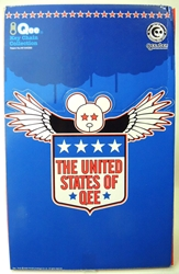 Toy2R United States of Qee - Display Tray of 15 assorted Qees Toy2R, Qee, Action Figures, 2004, collectible