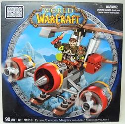 World of Warcraft 91018 Flying Machine with Gnome Rogue Mega Bloks, World of Warcraft, Legos & Mega Bloks, 2012, fantasy, video game