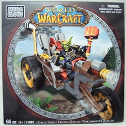 World of Warcraft 91019 Goblin Trike with Goblin Warrior Mega Bloks, World of Warcraft, Legos & Mega Bloks, 2012, fantasy, video game