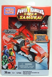 Power Rangers 5766 Red Pocket Racer with Launcher Mega Bloks, Power Rangers, Legos & Mega Bloks, 2012, scifi, tv show