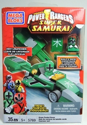 Power Rangers 5769 Green Pocket Racer with Launcher Mega Bloks, Power Rangers, Legos & Mega Bloks, 2012, scifi, tv show