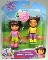 Dora the Explorer - Playtime Together Dora & Me 2-pack Fisher-Price, Dora the Explorer, Preschool, 2012, animated, tv show