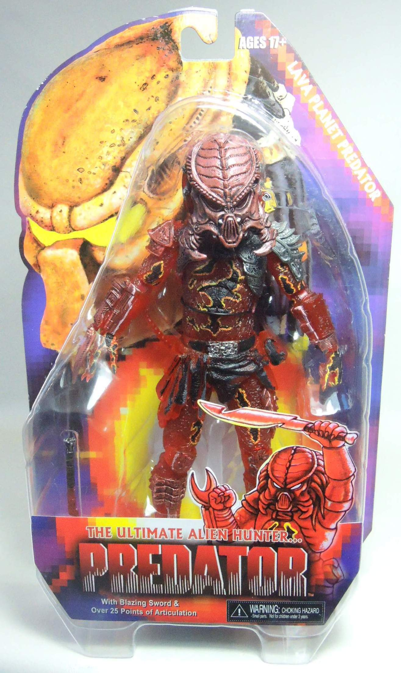 NECA Predators Series 10 Lava Planet Predator NECA, Predators, Action Figures, 2013, scifi, movie