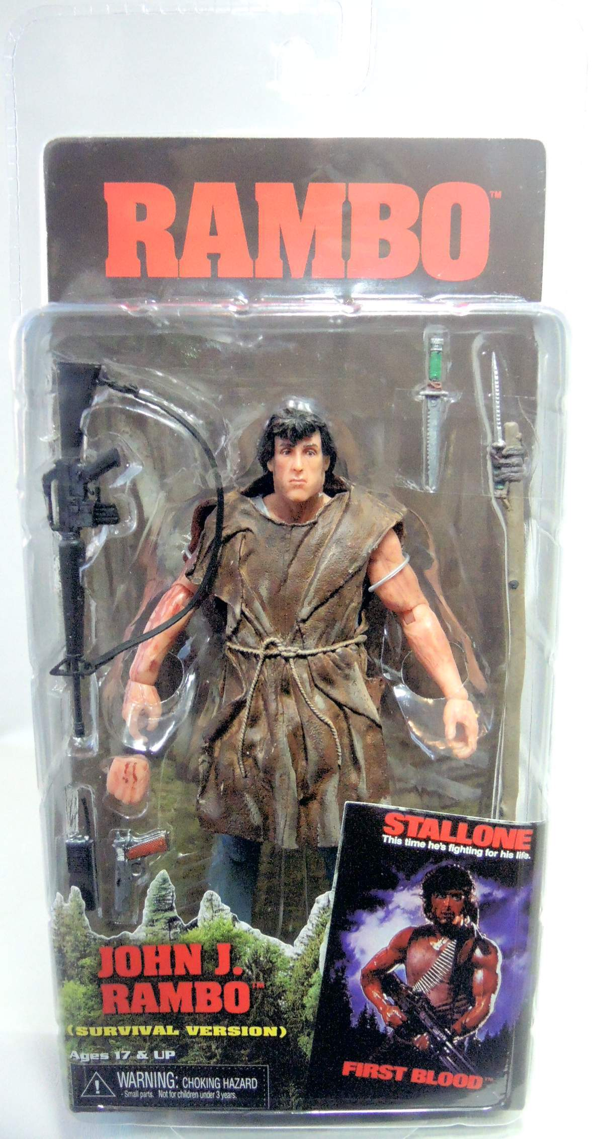 NECA Rambo 7 inch figure - John Rambo Survival Version