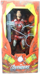 NECA Avengers 1/4 scale Battle damaged Iron Man 19 inch NECA, Iron Man, Action Figures, 2013, scifi, movie