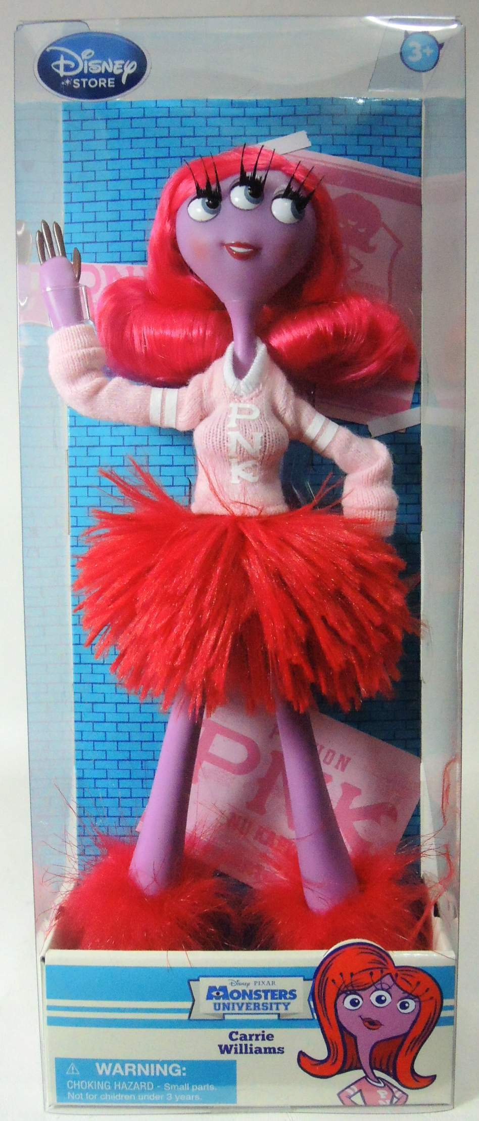 Disney Pixar Monsters University 11 inch doll Carrie Williams - 6903-6917CCCHTV