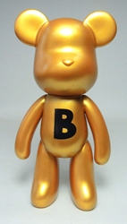 Popobe 5 inch Gold Idol B-ear Popobe, Popobe Bear, Action Figures, 2010, vinyl