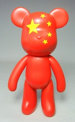 Popobe 5 inch China Flag Bear Popobe, Popobe Bear, Action Figures, 2010, vinyl