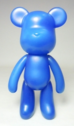 Popobe 5 inch Navy Blue Bear Popobe, Popobe Bear, Action Figures, 2010, vinyl