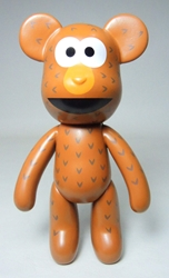 Popobe 5 inch Posame-Street Bear (brown) Popobe, Popobe Bear, Action Figures, 2010, vinyl