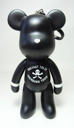 Popobe 5 inch Illiterate Memorial Bear (keychain) Popobe, Popobe Bear, Keychains, 2010|Color~black, vinyl