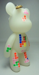 Popobe 5 inch Glow-in-the-Dark Tetris Bear Popobe, Popobe Bear, Action Figures, 2010, vinyl