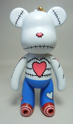 Popobe 5 inch Valentine the Mended-Heart Bear Popobe, Popobe Bear, Action Figures, 2010, vinyl