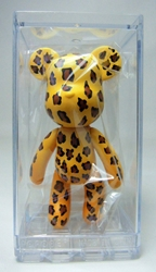 Popobe 3 inch Wild Leopard Bear in clear display box Popobe, Popobe Bear, Action Figures, 2010, vinyl