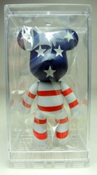 Popobe 3 inch Proud to Be an American Bear with display box Popobe, Popobe Bear, Action Figures, 2010, vinyl