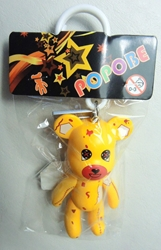 Popobe 3 inch Thread-bear but Happy (keychain) Popobe, Popobe Bear, Keychains, 2010|Color~yellow|Color~brown, vinyl