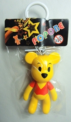 Popobe 3 inch 10-Acre Woods Pooh (keychain) Popobe, Popobe Bear, Keychains, 2010|Color~yellow|Color~red, vinyl
