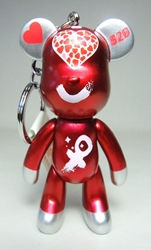 Popobe 3 inch Declare Your Love Valentine 520 Bear (girl) (keychain) Popobe, Popobe Bear, Keychains, 2010|Color~metallic red, vinyl