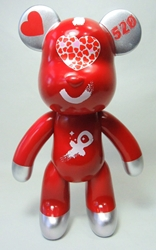 Popobe 10 inch Declare Your Love Valentine 520 Bear (girl) Popobe, Popobe Bear, Action Figures, 2010, vinyl