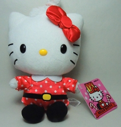 Hello Kitty 6 inch plush - Santa costume
