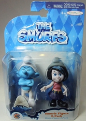 Smurfs - 2.5 inch figures 2-pack Grouchy & Vexy Jakks Pacific, Smurfs, Action Figures, 2013, animated, cartoon, movie