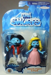 Smurfs - 2.5 inch figures 2-pack Smurfette & Painter Smurf Jakks, Smurfs, Action Figures, 2013, animated, cartoon, movie