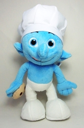 Smurfs 10 inch plush Chef Smurf Jakks, Smurfs, Plush, 2013, animated, cartoon, movie