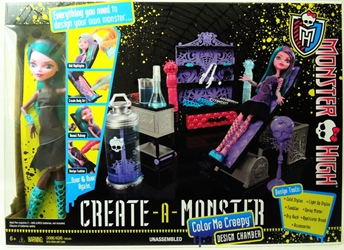 Monster High Create-a-Monster Design Chamber with Doll Mattel, Monster High, Dolls, 2012, teen, fashion, movie