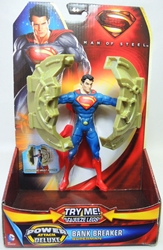 Superman Man of Steel 6 inch figure - Bank Breaker Superman Mattel, Superman, Action Figures, 2013, superhero, comic book