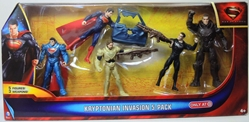 Superman Man of Steel - Kryptoninan Invasion 5-pack 4 inch figs Mattel, Superman, Action Figures, 2013, superhero, comic book