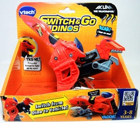 VTech Switch & Go Dinos - Akuna the Velociraptor Vtech, Switch & Go Dinos, Preschool, 2012, dinosaurs