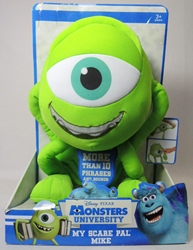 Monsters Inc 10 inch plush - My Scare Pal Mike - talks! Spin Master, Monsters University, Plush, 2012, kidfare, movie
