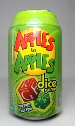 Dice Game in a soda pop can - Apples to Apples Mattel, Apples to Apples, Games, 2011