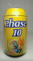Dice Game in a soda pop can - Phase 10 Mattel, Phase 10, Games, 2011