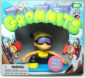 Grommets 2.6 inch Figure - Rod Slopes (yellow ski hat) Ronin Syndicate, Grommets, Action Figures, 2013, sports