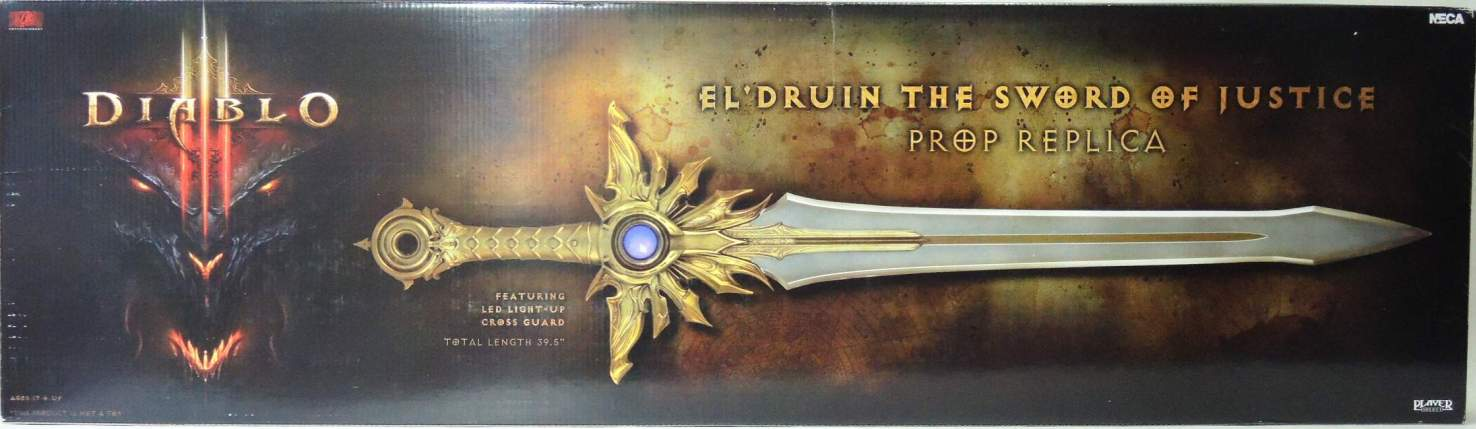 NECA Diablo III Prop Replica El Druin Sword of Justice NECA, Diablo, Action Figures, 2014, horror, halloween, video game