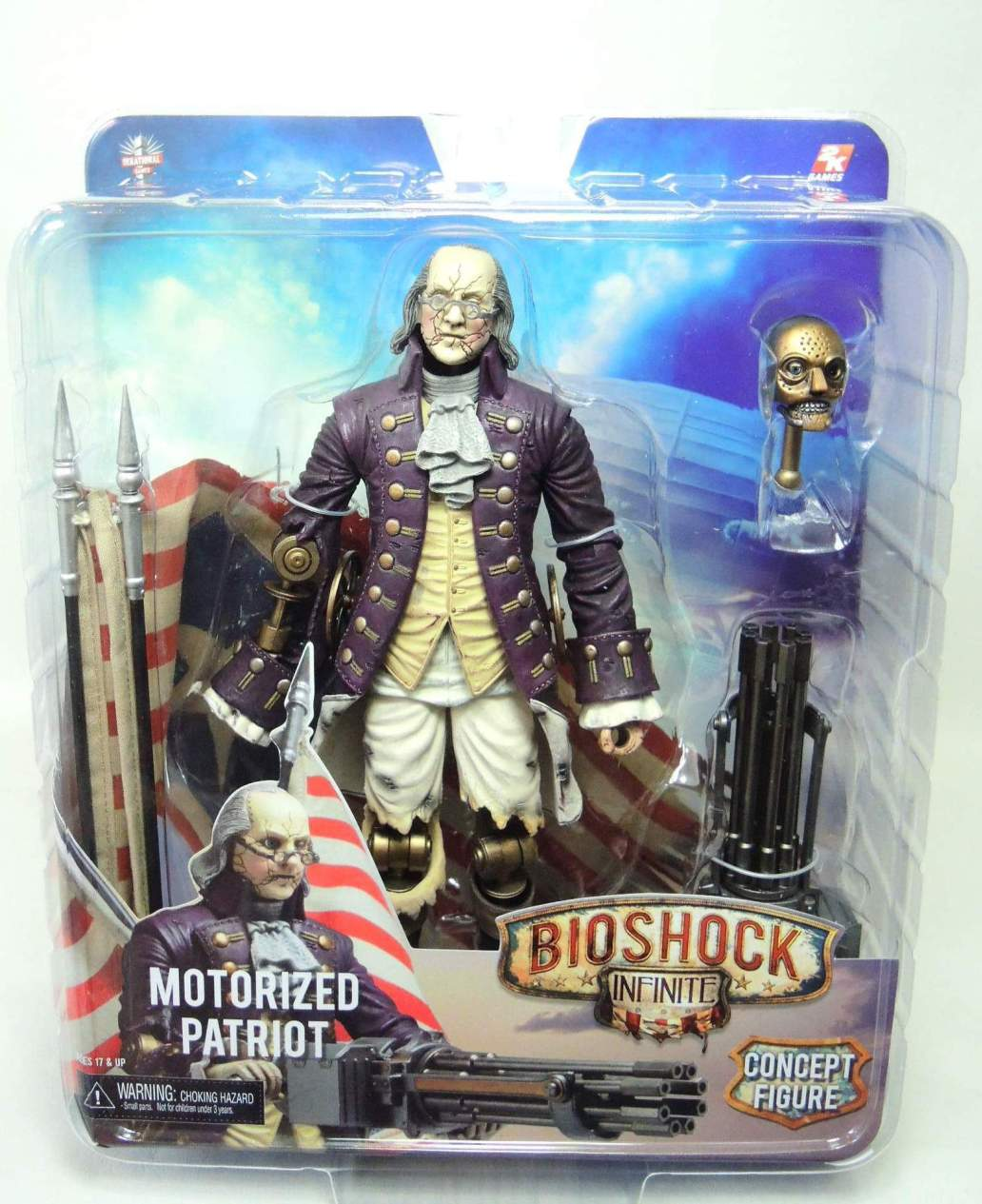 NECA Bioshock Infinite Franklin Patriot 9 inch figure