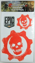 NECA Gears of War 3 Car Decals with Red Omen logo NECA, Gears of War, Action Figures, 2011, scifi, video game
