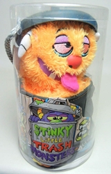 Stinky Little Trash Monsters  9 inch Plush Figure - Grimy (orange) Jay at Play, Stinky Little Trash Monsters, Plush, 2011, cute animals