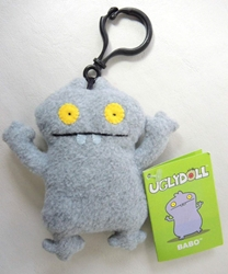 Uglydoll Clip-On 4 inch Babo (Gray) Pretty Ugly, Uglydoll, Plush, 2002, cute animals