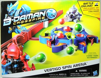 B-Daman Crossfire - Vertigo Spin Arena Set Hasbro, B-Daman, Action Figures, 2013, scifi, game