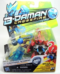 B-Daman Crossfire - 3 inch figure - BD-14 Lightning Scorpio Hasbro, B-Daman, Action Figures, 2013, scifi, game